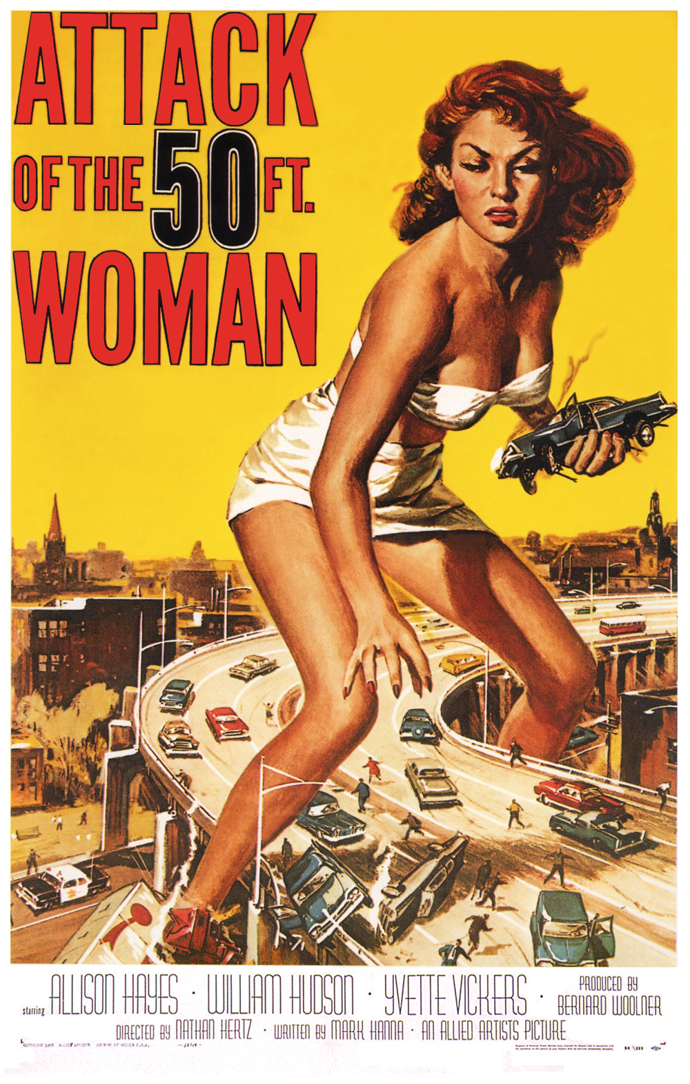 Featured Image: Attack of the 50 Foot Woman, Original poster by Reynold Brown