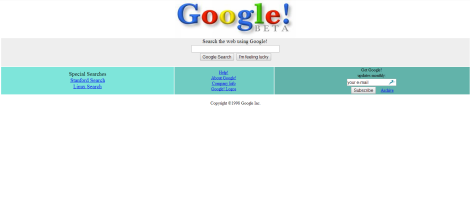 Google 1998 Internet Archive