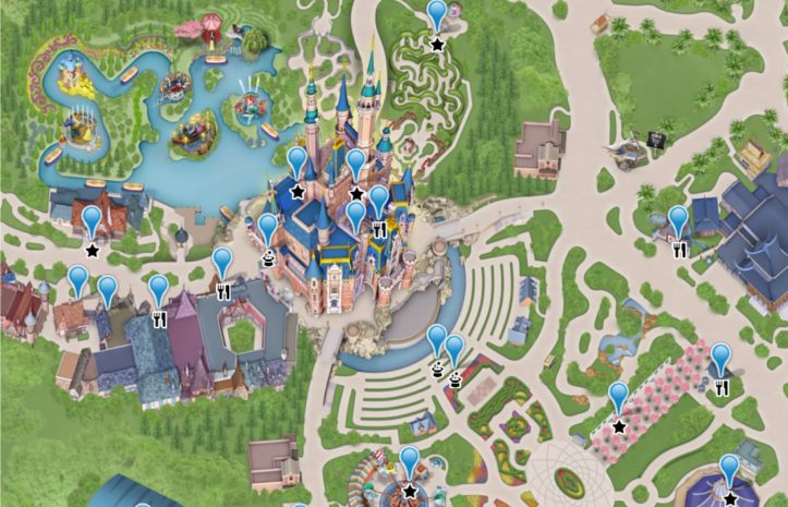 Disney Shangai Map