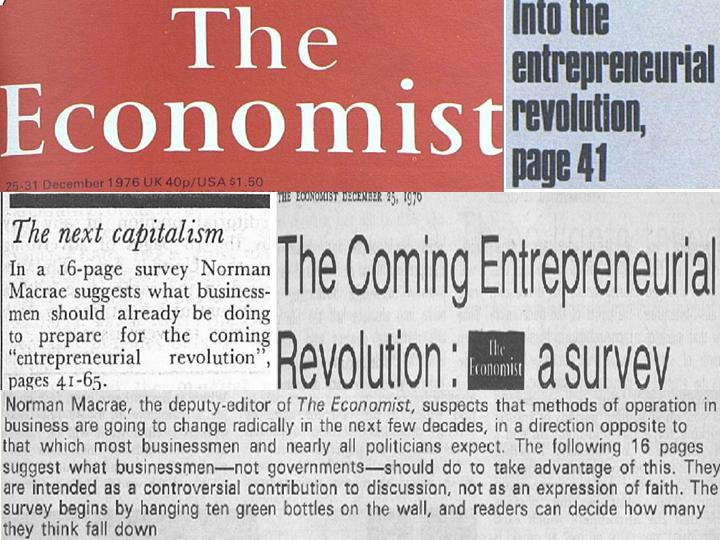 Coming Entrepreneurial Revolution